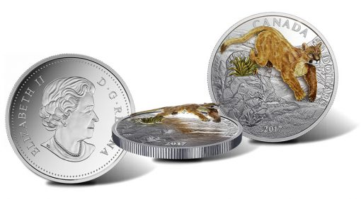2017 $20 Three-Dimensional Leaping Cougar 1 oz. Silver Coin