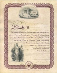 2017 Judicial Intaglio Print from Constitution Series Now Available
