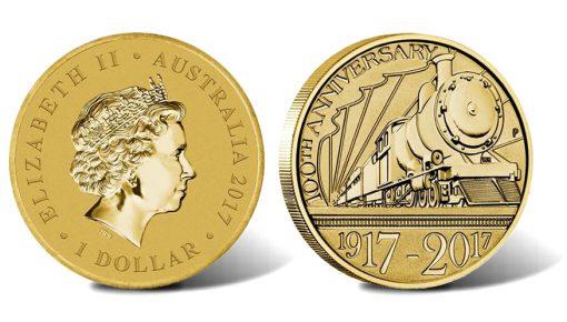 2017 Trans-Australian Railway $1 Coin