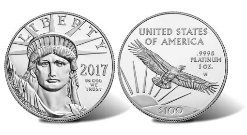 2017-W Proof 20th Anniversary American Platinum Eagle - obverse and reverse