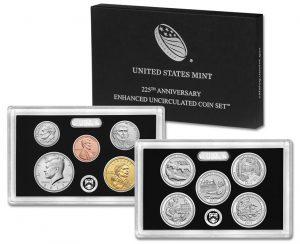 225thAnniversary Enhanced Uncirculated Coin Set