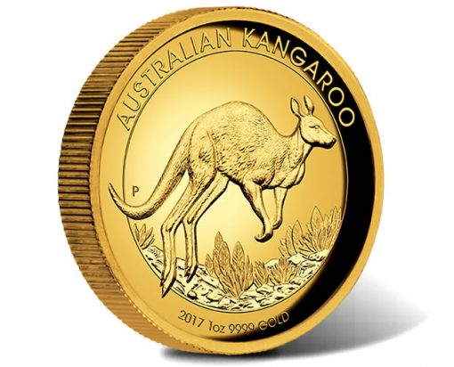 Australian Kangaroo 2017 1oz Gold Proof High Relief Coin