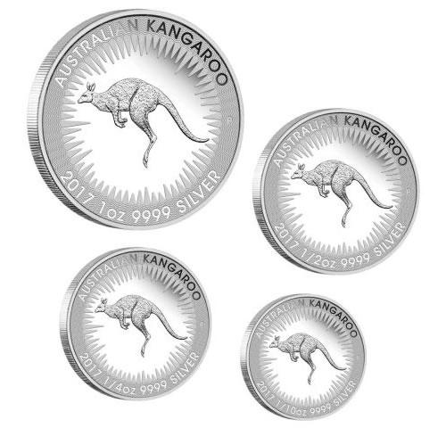 Australian Kangaroo 2017 Silver Proof Four-Coin Set