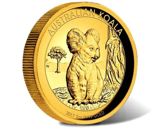 Australian Koala 2017 High Relief 2oz Gold Coin