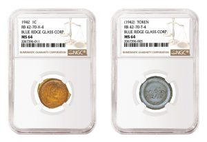 NGC Certifies Experimental Glass Cents in Heritage Aug. 4 ANA Sale