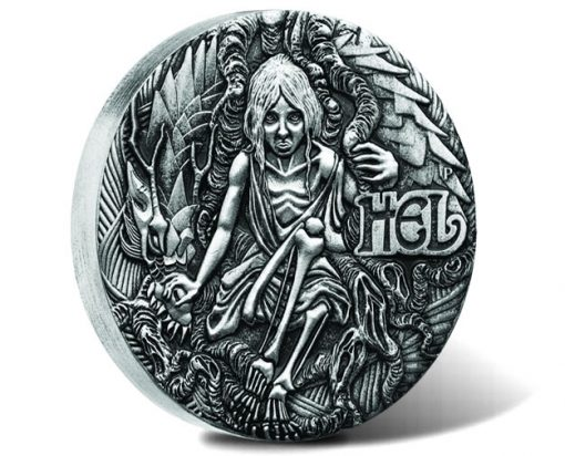 Norse Goddesses - Hel 2017 2oz Silver Antiqued High Relief Coin