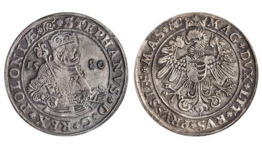 POLAND. Taler, 1580. Olkusz Mint