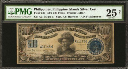Philippine Islands. 500 Pesos, 1906