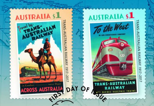 Stamps in Trans-Australian Railway 2017 Stamp and Coin Cover