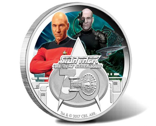 Star Trek, The Next Generation 30th Anniversary 2017 1oz Silver Proof Coin