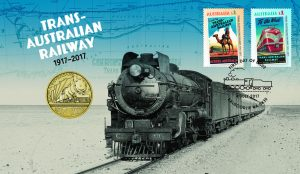 2017 Stamp and Coin Cover Celebrates Trans-Australian Railway