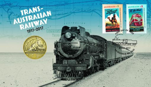 Trans-Australian Railway 2017 Stamp and Coin Cover