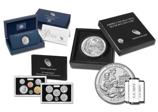 U.S. Mint images of collector products for July and August