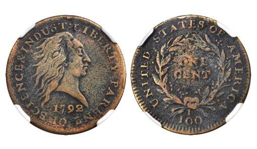 1792 Judd-2 Copper Cent