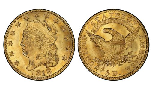 1818 BD-2 STATESOF Half Eagle