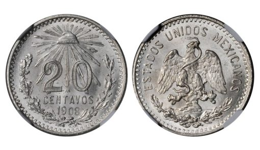 1908 20 Centavos