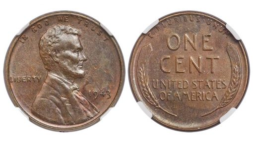 1943 CENT Struck on a Bronze Planchet