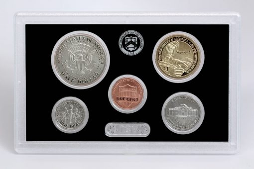 1c, 5c, 10c, 50c, 1$ of 2017-S Enhanced Uncirculated Coin Set