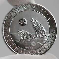 2016 Canadian Howling Wolves 3/4 oz. Silver Bullion Coin - Reverse