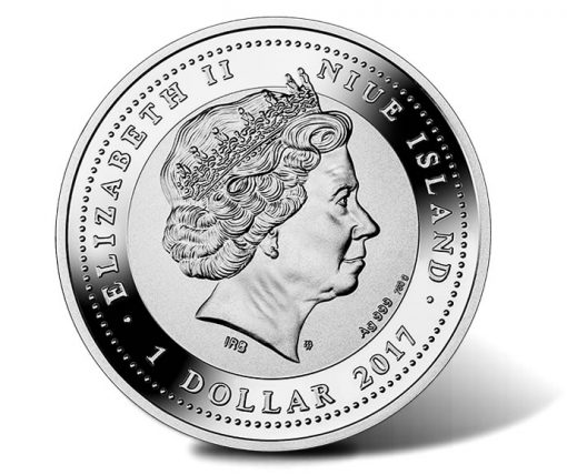 2017 $1 Tree of Luck 1 oz. Pure Silver Coin - Obverse