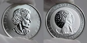 2017 $2 Canadian Silver Wolf Moon Bullion Coin Photos
