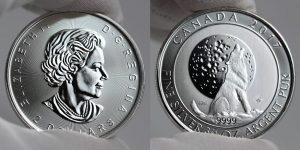 2017 $2 Canadian Silver Wolf Moon Bullion Coin Photos