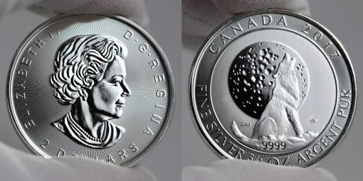 2017 $2 Canadian Silver Wolf Moon Bullion Coin
