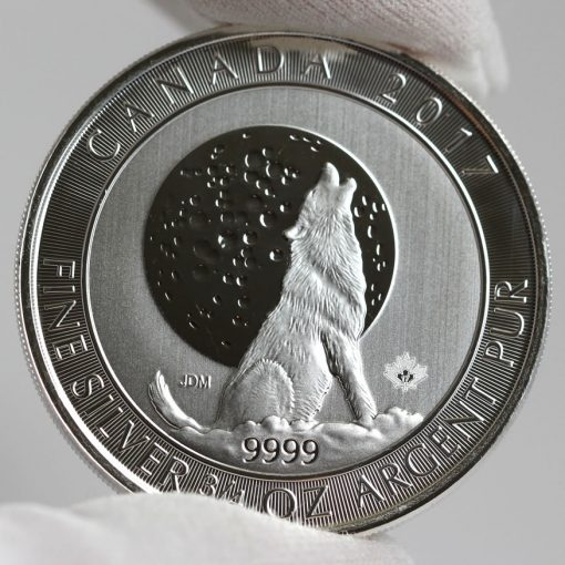 2017 $2 Canadian Silver Wolf Moon Bullion Coin - Reverse-2