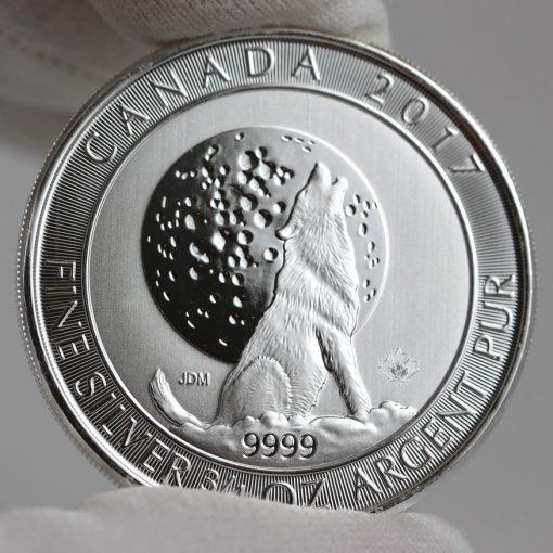 2017 $2 Canadian Silver Wolf Moon Bullion Coin - Reverse
