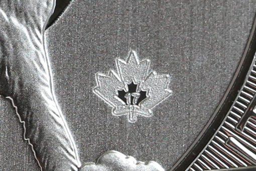 2017 $2 Canadian Silver Wolf Moon Bullion Coin - Security Mark