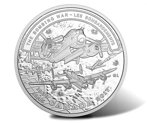 2017 $20 The Bombing War 1 oz. Pure Silver Coin - Reverse