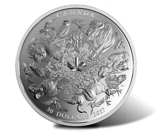 2017 $30 Flora and Fauna of Canada 2 oz Silver Coin - Reverse