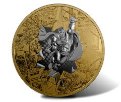 Superman Depicted on Reverse Gold-Plated 3oz. Silver Coin