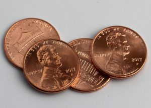 2017-P Lincoln cents