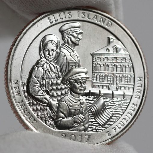 2017-P Uncirculated Ellis Island Quarter - Clad, Reverse-1