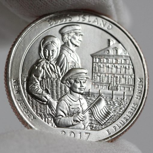 2017-P Uncirculated Ellis Island Quarter - Clad, Reverse-2