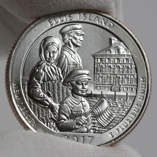 2017-P Uncirculated Ellis Island Quarter - Clad, Reverse