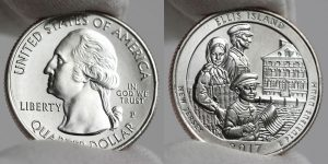 2017-P Uncirculated Ellis Island Quarter Obverse and Reverse