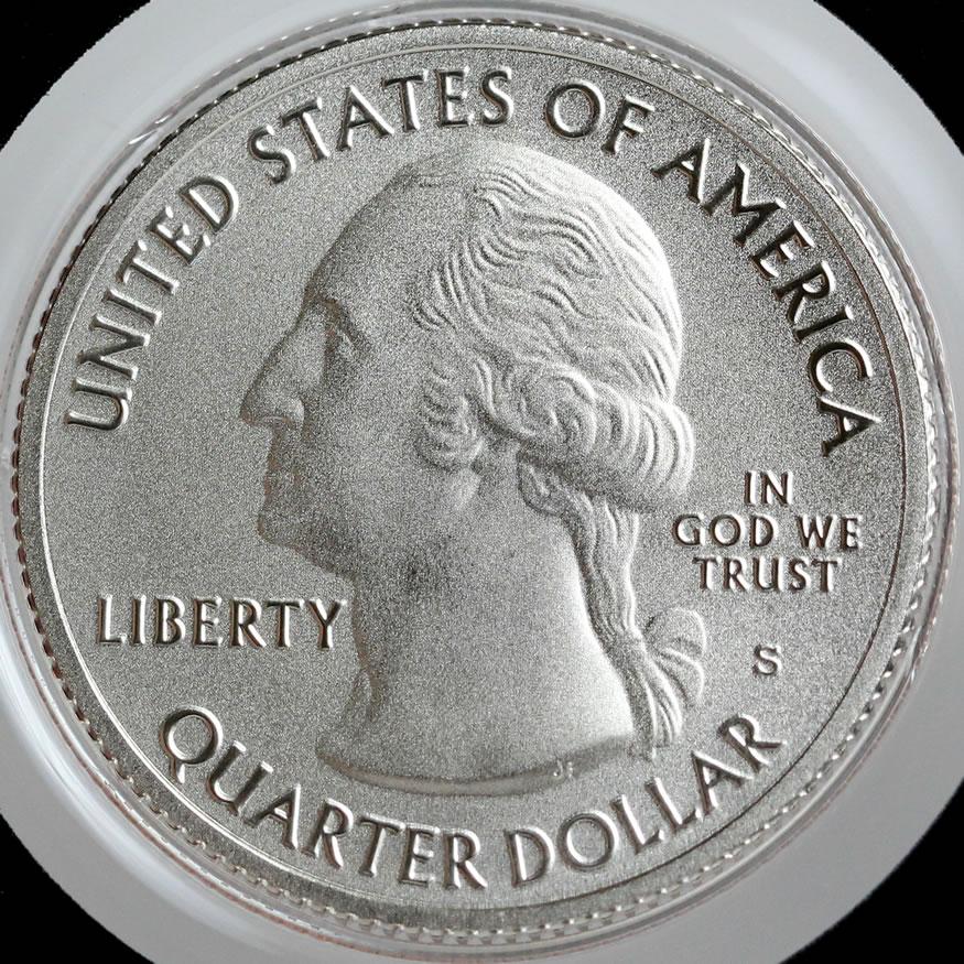 2017 S Enhanced Uncirculated Parks Quarter Set No Box or COA 5 Coins