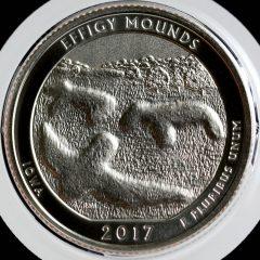 2017-S Enhanced Uncirculated Effigy Mounds Quarter - Reverse