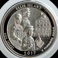 2017-S Enhanced Uncirculated Ellis Island Quarter - Reverse