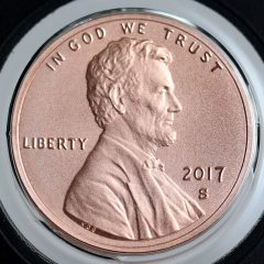 2017-S Enhanced Uncirculated Lincoln Cent - Obverse