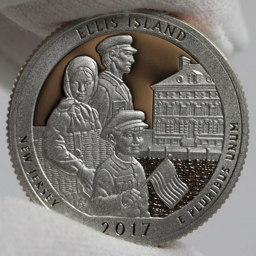2017-S Proof Ellis Island Quarter - Clad, Reverse-1