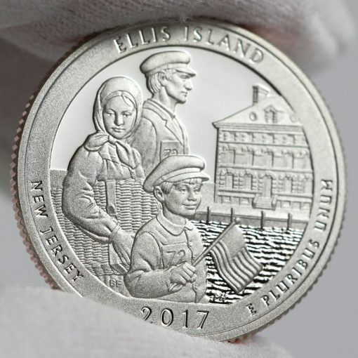 2017-S Proof Ellis Island Quarter - Clad, Reverse-2