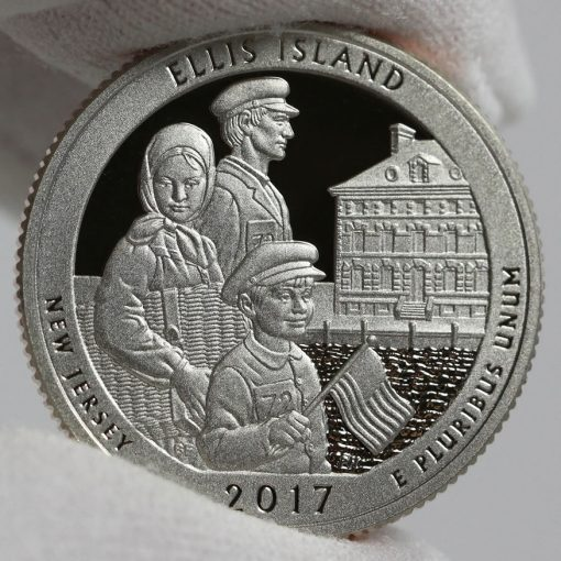 2017-S Proof Ellis Island Quarter - Clad, Reverse