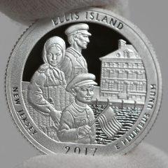 2017-S Silver Proof Ellis Island Quarter - Clad, Reverse-1
