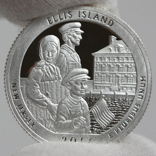 2017-S Silver Proof Ellis Island Quarter - Clad, Reverse-2