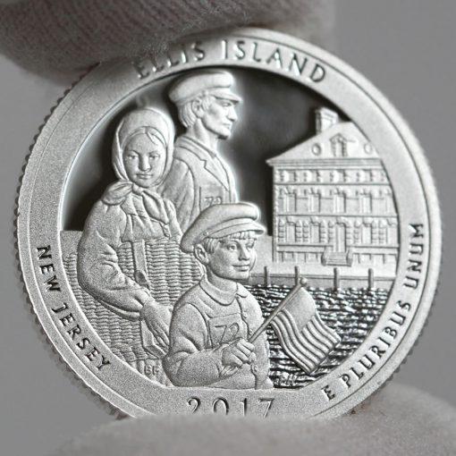 2017-S Silver Proof Ellis Island Quarter - Clad, Reverse