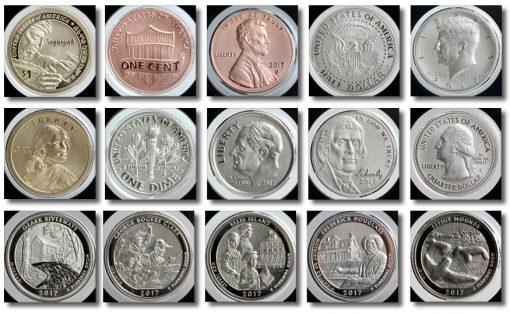 225th Anniversary 2017-S Enhanced Uncirculated Coin Set