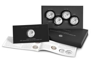 American Liberty Four Silver Medal Set - Packaging, Medals and Booklet